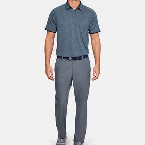 Under Armour Golf shirt. Gray/blue. Heat Gear.